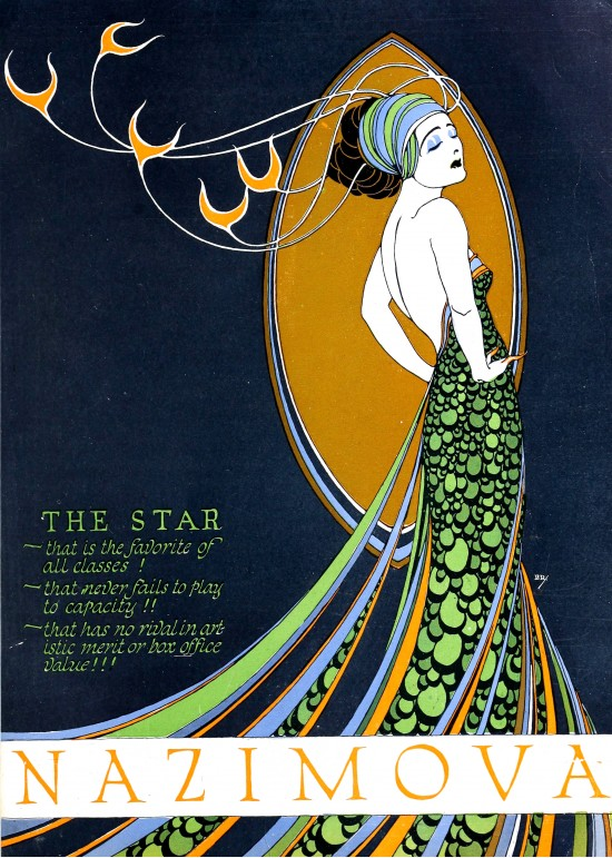 Nazimova in Madame Peacock, by Burton Rice