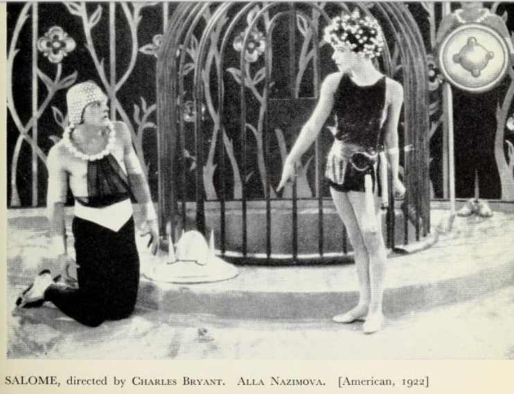"Nazimova in ""Salome"" (1923) - illistration from ""The film till now - a survey of world cinema"" by Paul Rotha"