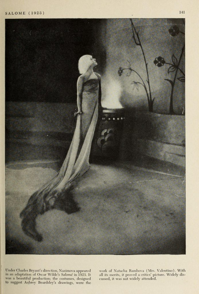"Nazimova in ""Salome"" (1923) - illustration from A pictorial history of the movies"" by Taylor Deems, 1943"