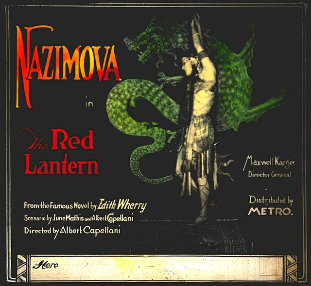 "1919: Alla Nazimova in ""The Red Lantern"" lobby card"