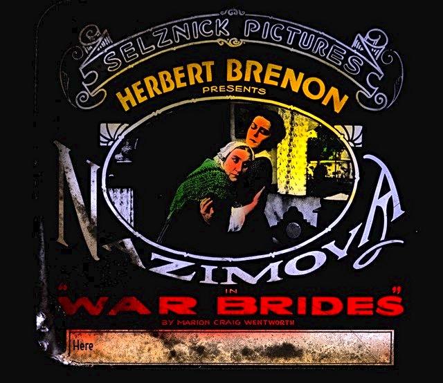 Nazimova in war brides poster