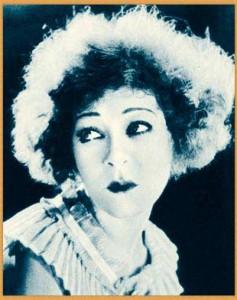 Alla Nazimova blue-tinted portrait
