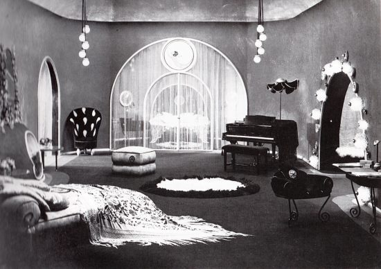 "Nazimova's apartment in her 1921 film of ""Camille"" (designed by Natacha Rambova)"
