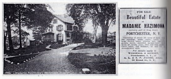 1941: Nazimova's country property Who-Torok and the advertisement announcing its sale