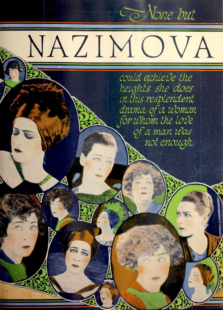 """None but Nazimova"" illustration from Moving Picture World magazine, October 1920"