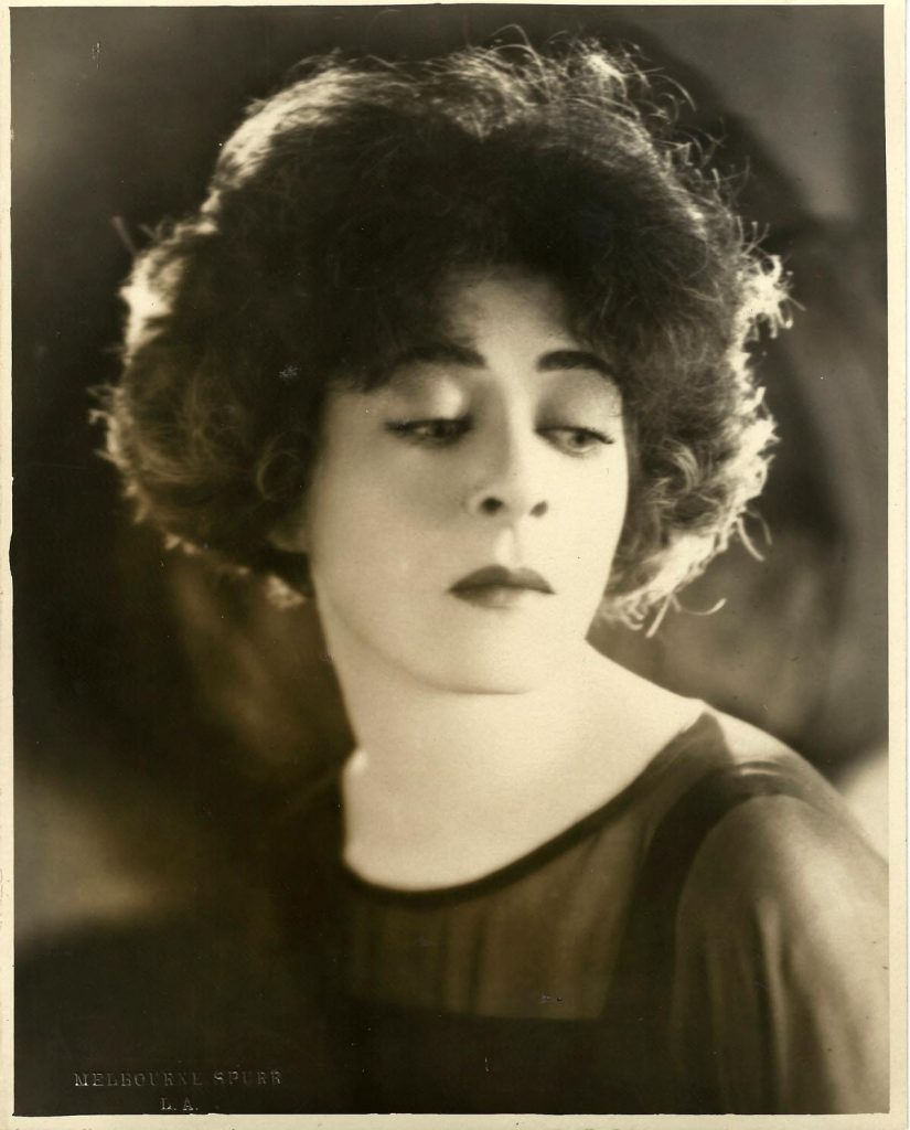 1923: Portrait of Alla Nazimova by Melbourne Spurr (circa 1923)