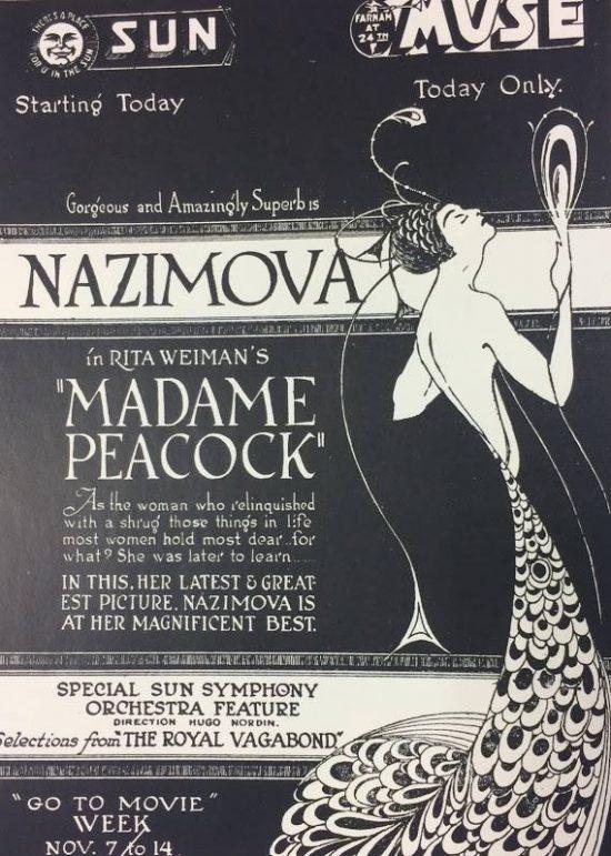 """Poster for Alla Nazimova in """"Madame Peacock"""" (1920)"""