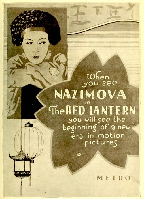 "Poster for Alla Nazimova in ""The Red Lantern"" (1919)"