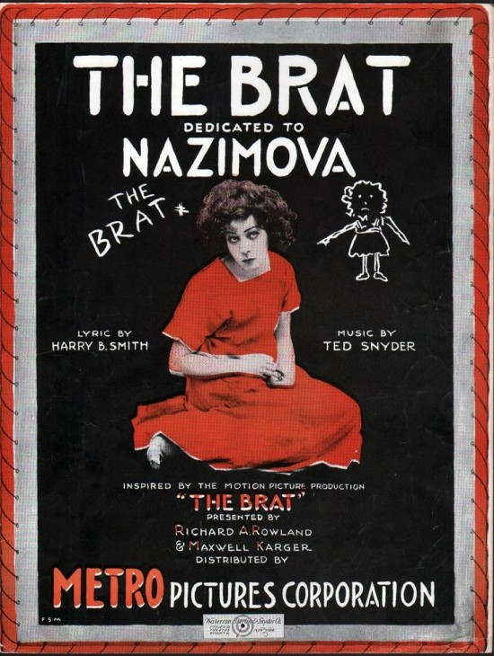 "1919: Poster for ""The Brat"" starring Alla Nazimova"