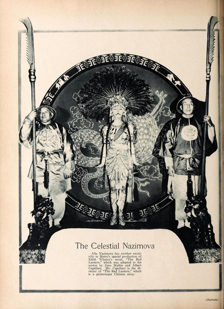 "1919: ""The Celestian Nazimova"" in Motion Picture Classic magazine"