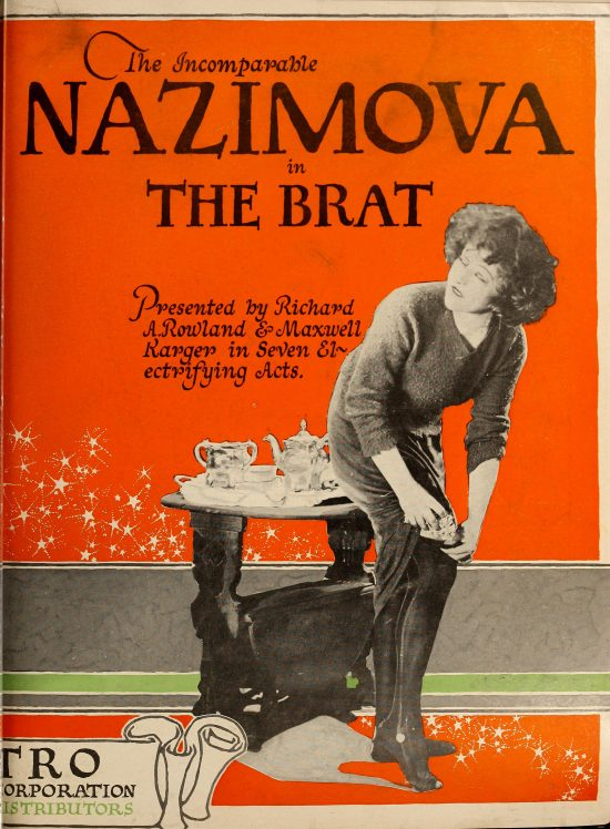 "The Incomparable Nazimova in ""The Brat"" Motion Picture News July - August 1919"