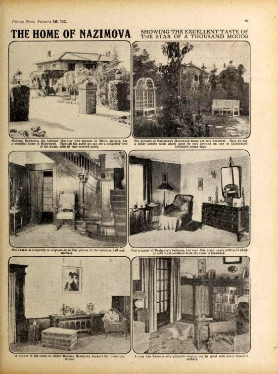 The home of Alla Nazimova