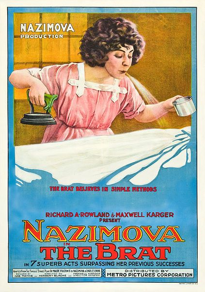 "1919: Theatrical poster for the silent film ""The Brat"" - produced by and starring Alla Nazimova"