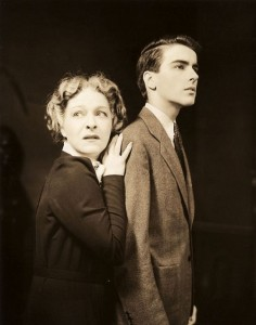 "1939: Alla Nazimova and Mongomery Clift in ""The Mother"" on Broadway"