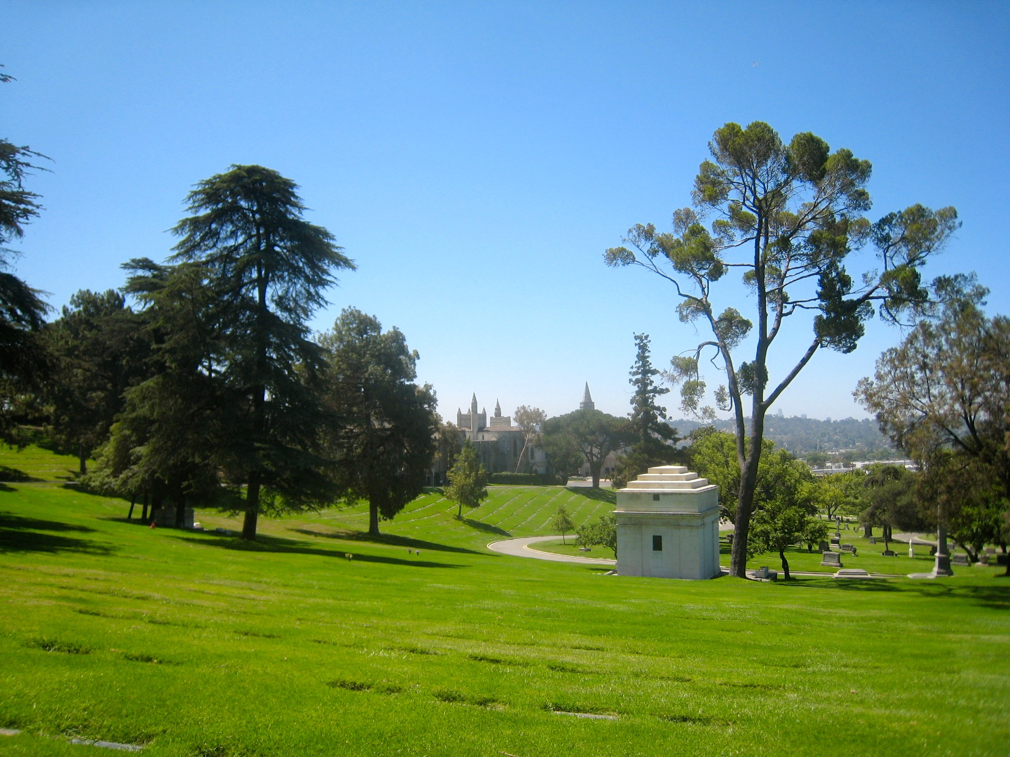 View from the hill where Alla Nazimova is buried