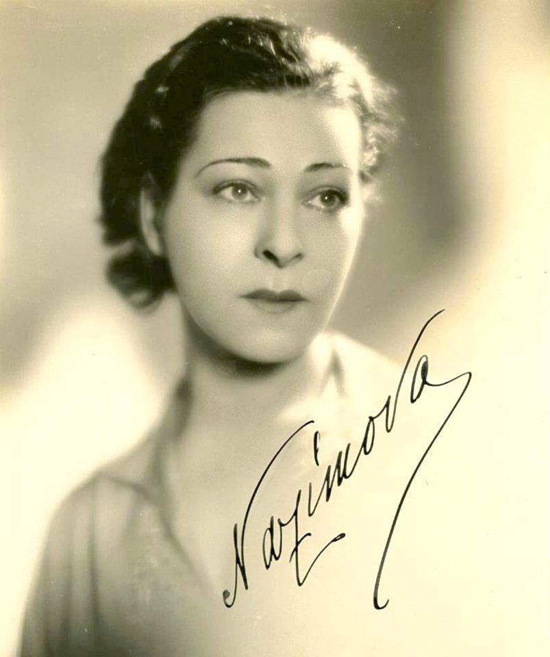 Portrait of Alla Nazimova, with autograph