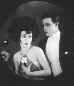 "1921: Alla Nazimova with co-star Rudolph Valentino in ""Camille"""