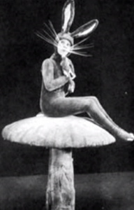 "1919: Alla Nazimova dressed as a rabbit in ""The Brat"""