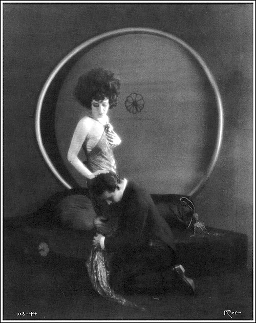 """1921: Alla Nazimova with Rudolph Valentino in """"Camille"""""""