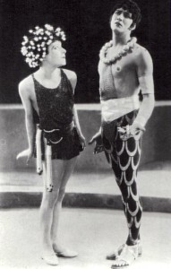 "1923: Alla Nazimova as Salome with Earl Shenck as Narraboth, the Captain of the Guard, in ""Salome"""