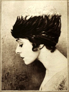 Alla Nazimova in feathery hat