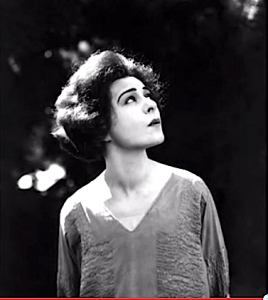 Alla Nazimova portrait (looking upwards)