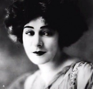 Close up portrait of Alla Nazimova