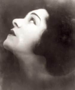 Portrait of Alla Nazimova by photographer Emil Otto Hoppé