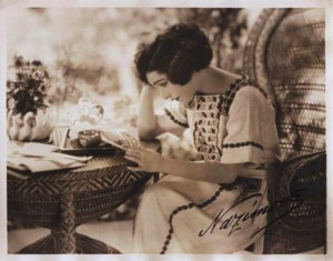 Alla Nazimova reading (with autograph)