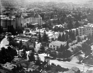Garden of Allah hotel - as seen from the air