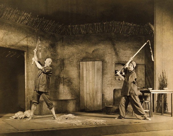 "Circa 1932:  Claude Rains and Alla Nazimova in the play ""The Good Earth"""