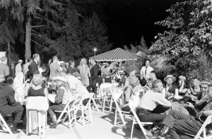 Photos of the Garden of Allah's closing night party, August 1959