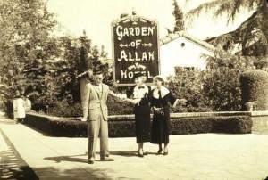 Garden of Allah hotel - sign on Sunset Boulevard