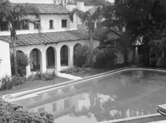 Alla Nazimova Society View Of The Garden Of Allah Hotel Swimming Pool