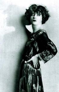 Alla Nazimova with hand on hip