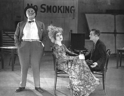 "1920: Alla Nazimova with two of her co-start in ""Madame Peacock."""