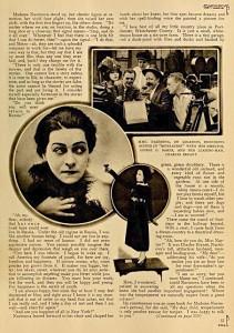 "Alla Nazimova reveals her ""devilish ambition"" to Motion Picture magazine"