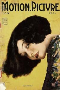 """Alla Nazimova on the cover of """"Motion Picture"""" magazine."""