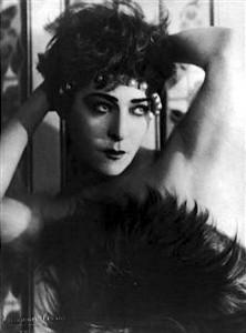 Alla Nazimova with pearl headband