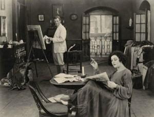 "1918: Nazimova and her husband Charles Bryant in ""Revelation."""