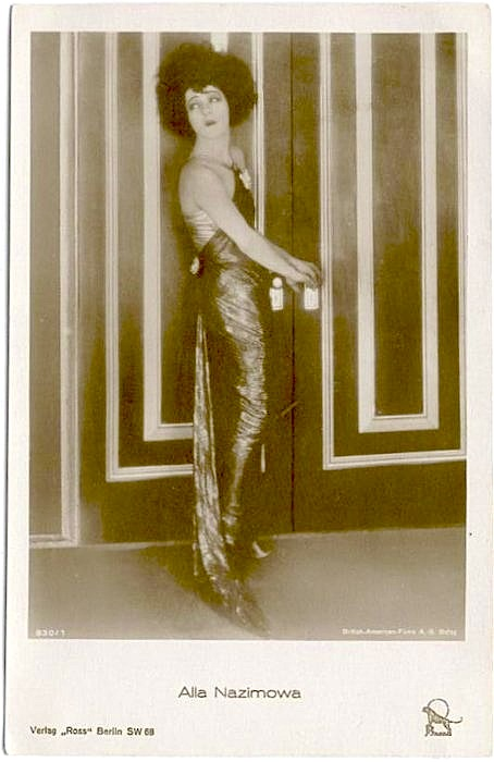 "Circa early 1920s: Alla Nazimova from ""Camille"" in a Ross Verlag postcard (Germany)"