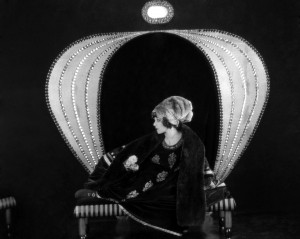 """1921: Alla Nazimova in chair in """"Camille"""""""