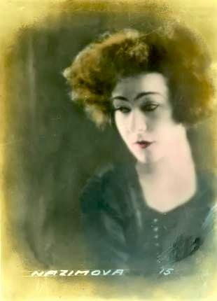 alla nazimova colorized portrait