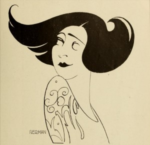 1925: Caricature of Alla Nazimova by Einar Nerman