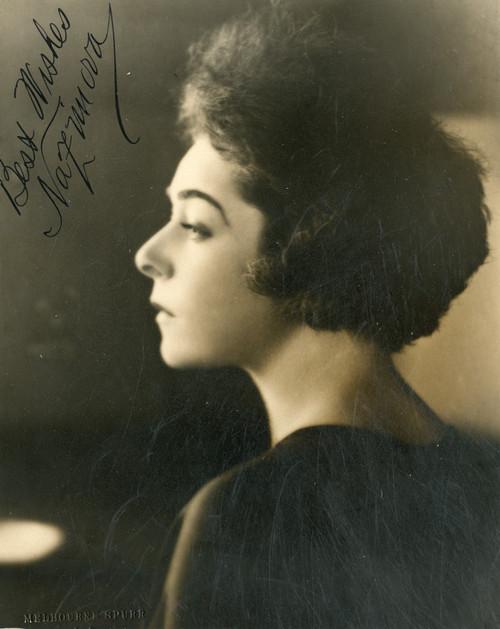 Autographed portrait of Alla Nazimova by Melbourne Spurr