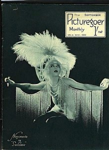 "1922: Alla Nazimova in ""Salome"" on the cover of ""Picturegoer"" magazine."