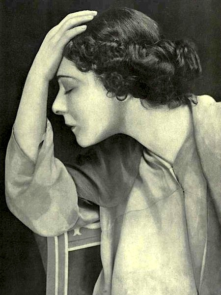 """1912: Alla Nazimova poses for """"Theatre Magazine"""" in June, 1912."""