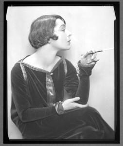 Alla Nazimova with cigarette