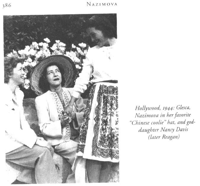From left, Glesca Marshall, Alla Nazimova and Nancy Davis