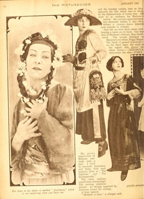 "1921: Article from Picturegoer magazine, January 1921: ""The Real  Nazimova"" by Herbert Howe (page 2)"